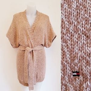 TOMMY HILFIGER Knit Wrap Tie Sweater, M